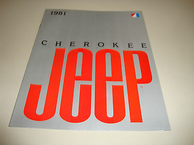 Original 1981 81 Vintage Jeep Cherokee Showroom Sales Brochure   Nos