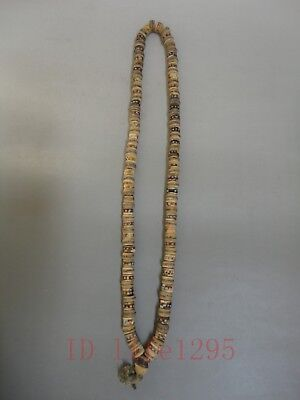 Collected Rare Ancient Chinese Tibet prayer Beads Mosaic Tibetan Turquoise Coral