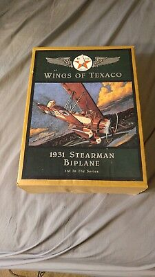 Ertl Wings of Texaco 1931Spearman Biplane Die-Cast Metal Bank
