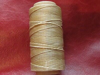 Waxed Artificial Sinew 1.2 mm. for leather hand sewing     Natural  Polyester