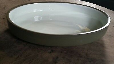 DENBY ENGLAND CAMELOT 11 x 8 OVAL VEGETABLE SIDE DISH SERVING BOWL GREEN NICE!!