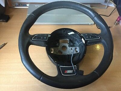Audi Q3 8U S Line Leather Multi Function Steering Wheel In Black 8U0419091R