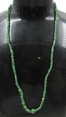 Authentic Ancient Roman Era Glass Beaded Necklace - H329