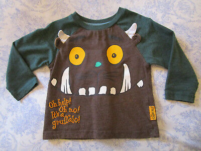 baby boy girl 9-12month Gruffalo long sleeve T-shirt with purple prickle at back