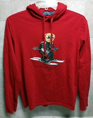 NWOT / NM Men's Polo Bear By Ralph Lauren Hoodie Hooded T-shirt // Small S
