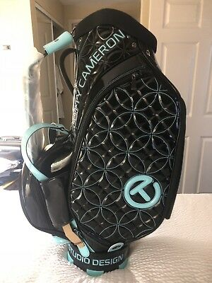 SCOTTY CAMERON 2018 Japan Circle T Tiffany & Black Staff Bag With Head  Covers