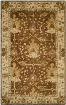 Arts & Crafts William Morris Style Hand Tufted Wool Area Rug *FREE SHIPPING