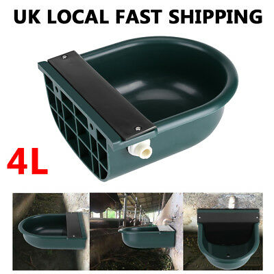 4L Automatic Water Bowl Feeder/Drinker Trough f/ Horse Cattle Sheep/Small Animal