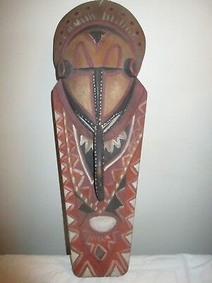 Vintage Unusual African Tribal Mask, Carved Wood Wooden Museum Piece