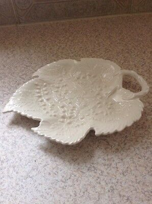 Royal Creamware Occasions Fine China Leaf Bon Bon Dish Perfect For Christmas