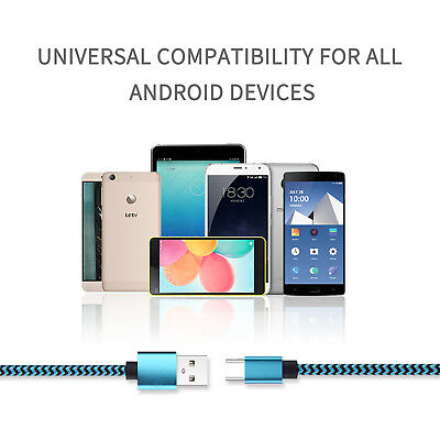 6.6FT Type C USB-C Sync Charger Charging Power Cable For Mac Nexus 6P 5X HUAWEI