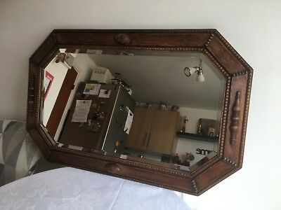 Hexagonal Edwardian Mirror