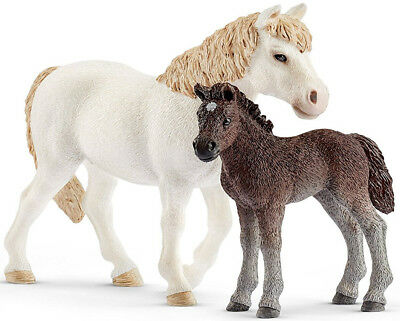 Miniature Dollhouse FAIRY GARDEN - Pony Mare and Foal - Accessories
