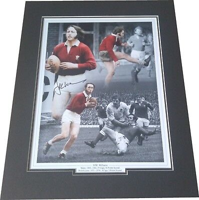 JPR Williams - Wales Rugby Union Signed 16x12 Montage Photo Mounted