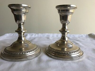 Vintage Pair of Sterling Silver Columbia Weighted Candle Holders/Candlesticks