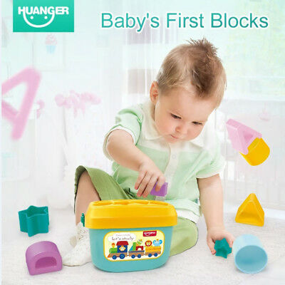 Baby Block Toy Set Bed Cot First Toy Baby Teether Kids Educational Toys Box