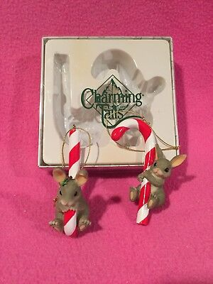 Charming Tails Candy Cane Gift Set Ornaments 86/116 Fitz & Floyd