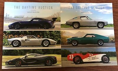 "Mecum Auctions ""The Daytime Auction"" Catalogs (2) August 19 & 20, 2016"