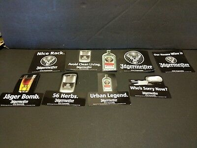 Jagermeister Refrigerator Magnet Set of 9 bar liquor alcohol Distillery excellen