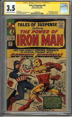Tales of Suspense #58 CGC 3.5 VG Signed By Stan Lee         **WoW**