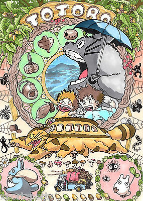Studio Ghibli - My Neighbour Totoro Poster - Matte Wall Art - Buy 2 Get 1 Free