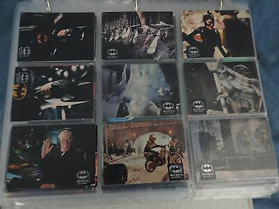 BATMAN Movie Topps 1989 & Etc Trading Cards 93 Cards Total