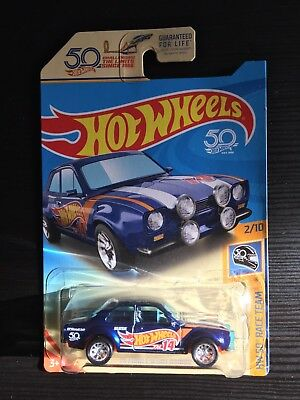 2018 Hot Wheels '70 Ford Escort RS1600 *SUPER TREASURE HUNT* Very Good Condition