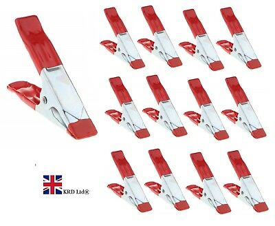 """4"""" Heavy Duty MARKET STALL SPRING CLAMPS Large Strong Metal Clips For Tarpaulin"""