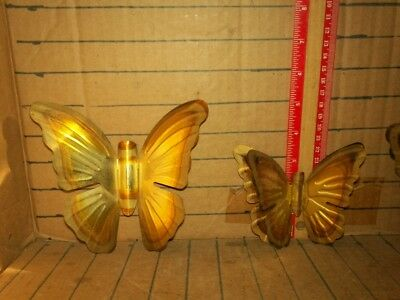 lot of 3 vinatge wall hanging tin butterflys