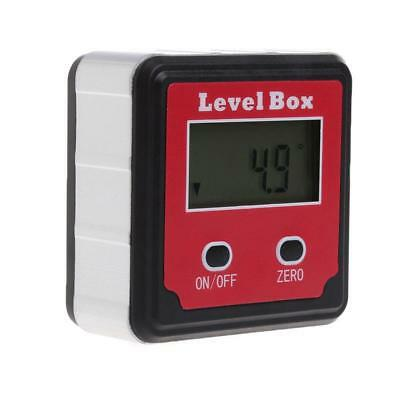 Digital Inclinometer Level Box Protractor Angle Finder Gauge Meter Bevel Ruler
