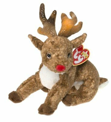 Ty Beanie Babies - Roxie the Reindeer (Red Nose) - December 1, 2000 - Retired