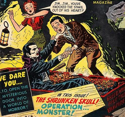 Chamber Of Chills #5 Harvey/witches Tales Comics Book Pre-Code Horror (1952)
