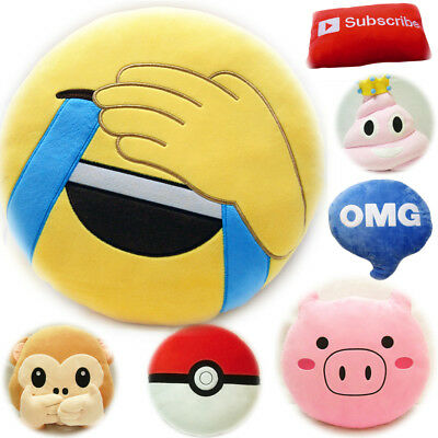 32cm Emoji Smiley Emoticon Stuffed Plush Toy Doll Pillow Case Cushion Home Deco