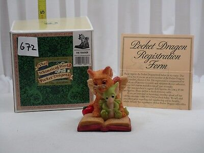 Pocket Dragons by Real Musgrave - NIB - PD672 - The Teacher