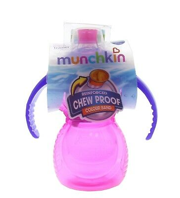 Steady Munchkin Click Lock Chew Proof Sippy Cup 284ml Pink Feeding