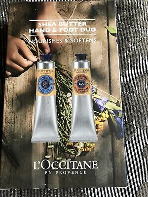 L'Occitane Shea Butter Hand & Foot Duo 2 X 75ml NIB