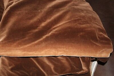 Pair of large vintage brown velvet lined blackout curtains W 102 inch d 77 inch,