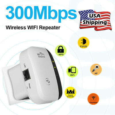 Home WiFi Range Extender Super Booster 300Mbps Superboost Boost Speed US Stock