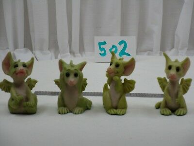 Pocket Dragons by Real Musgrave - Mint No Box - PD 502 - Four Assorted Dragons