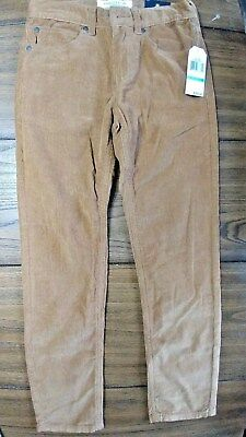 NEW NWT Nautica Boys Skinny Fit Corduroy Brown Khaki Tan Dress Pants Sz 8