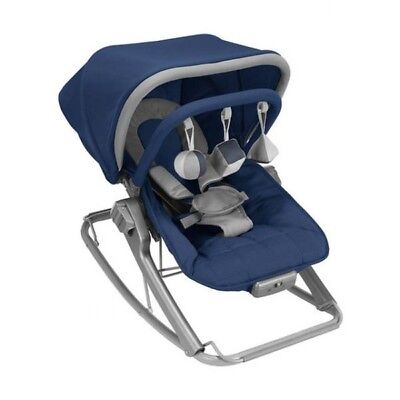 Maclaren Rocker/Baby Seat (Medieval Blue/Penguin) - Brand New In Box