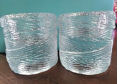 "tiffany & co. 3"" thick votive candleholders"