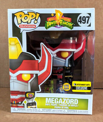 Funko Pop Power Rangers Megazord Glow in the Dark EE Exclusive #497 - New MIB