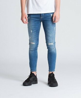 King's Will Dream Junior Romer Ripped Skinny Denim Jean Mid Blue