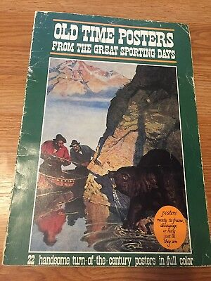 Vintage  Book Old Time Posters From The Great Sporting Days 22 Full Color 1982