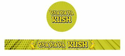 10x Banana Kush Presstin 100ml Cali Tin Labels
