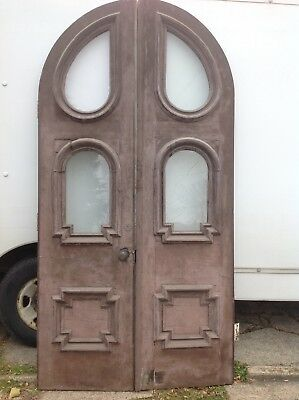 Antique Arched Double Entry Doors