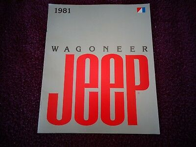 Vintage ORIGINAL 1981 81 VINTAGE JEEP Wagoneer SHOWROOM SALES BROCHURE   NOS