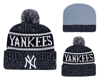 pretty nice 408f0 70668 New York Yankees New Era MLB Cuffed Knit Winter Beanie Cap w  Pom