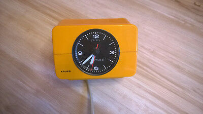 Krups Type 672 orange Wecker/Uhr Retro Top-Zustand